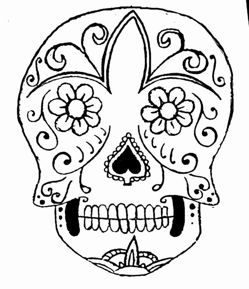 Sugar Skull Drawing Easy