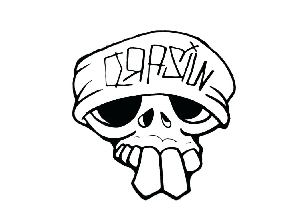 1024x755 Easy Skull Drawings Easy Drawing Tutorials Flowers Elegant Skull