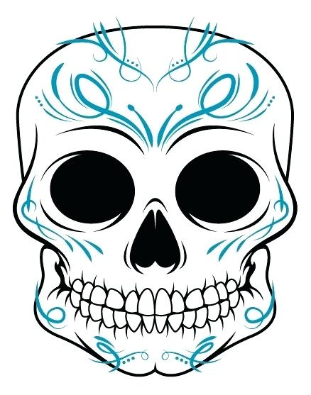 438x557 How To Draw A Simple Skull Easy Skulls To Draw Step
