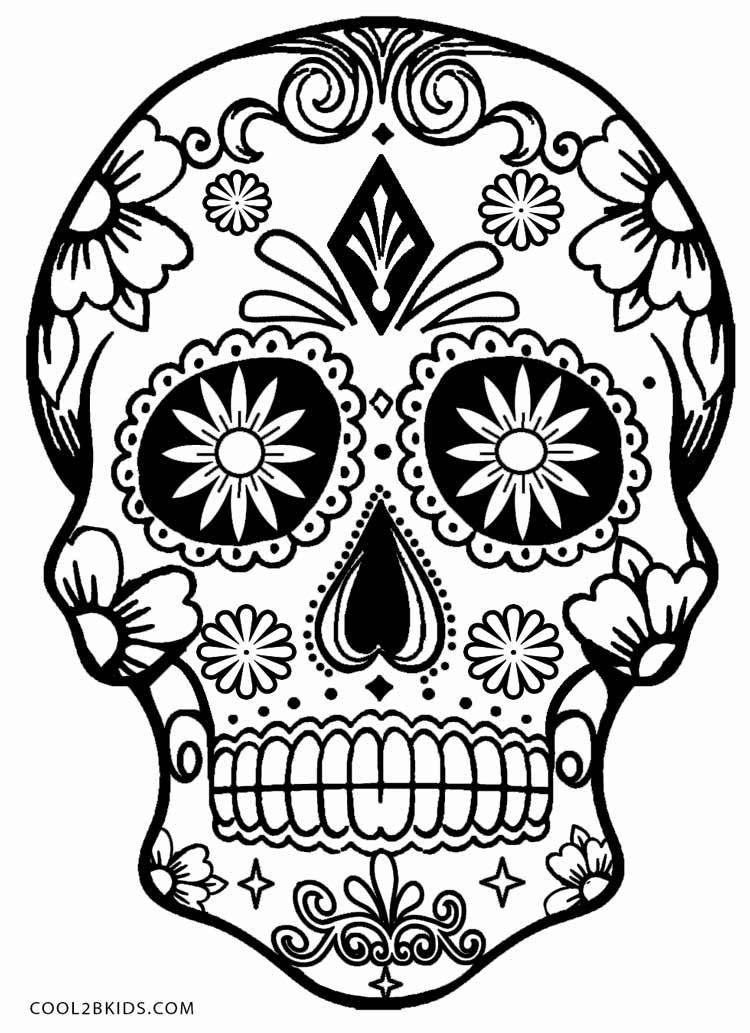 750x1033 Easy Skull Coloring Pages Ideas And Designs