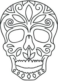 199x277 how to draw a sugar skull how to draw a skull human skull drawing
