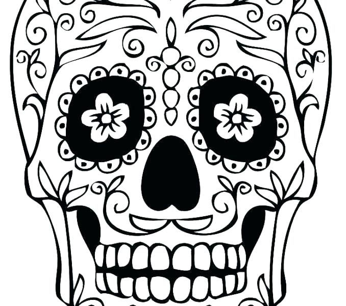 678x600 Candy Skull Template Sugar Skull Template Download Easy Sugar