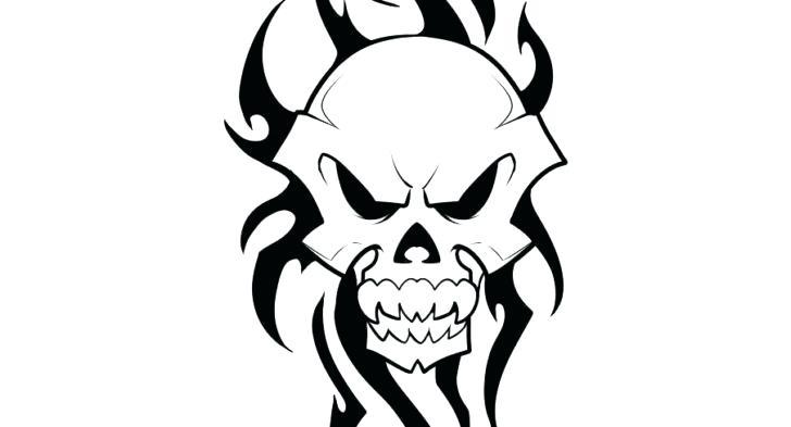 728x393 Skull Drawings Easy