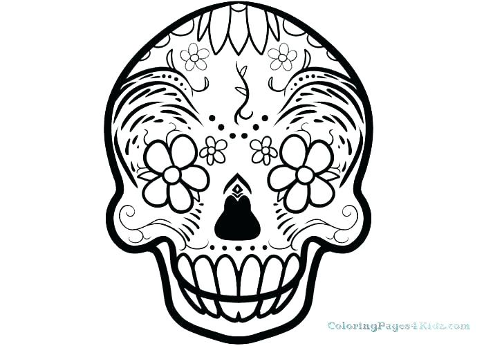 700x500 Coloring Pages Skull Coloring Pages Easy Free Printable Sugar