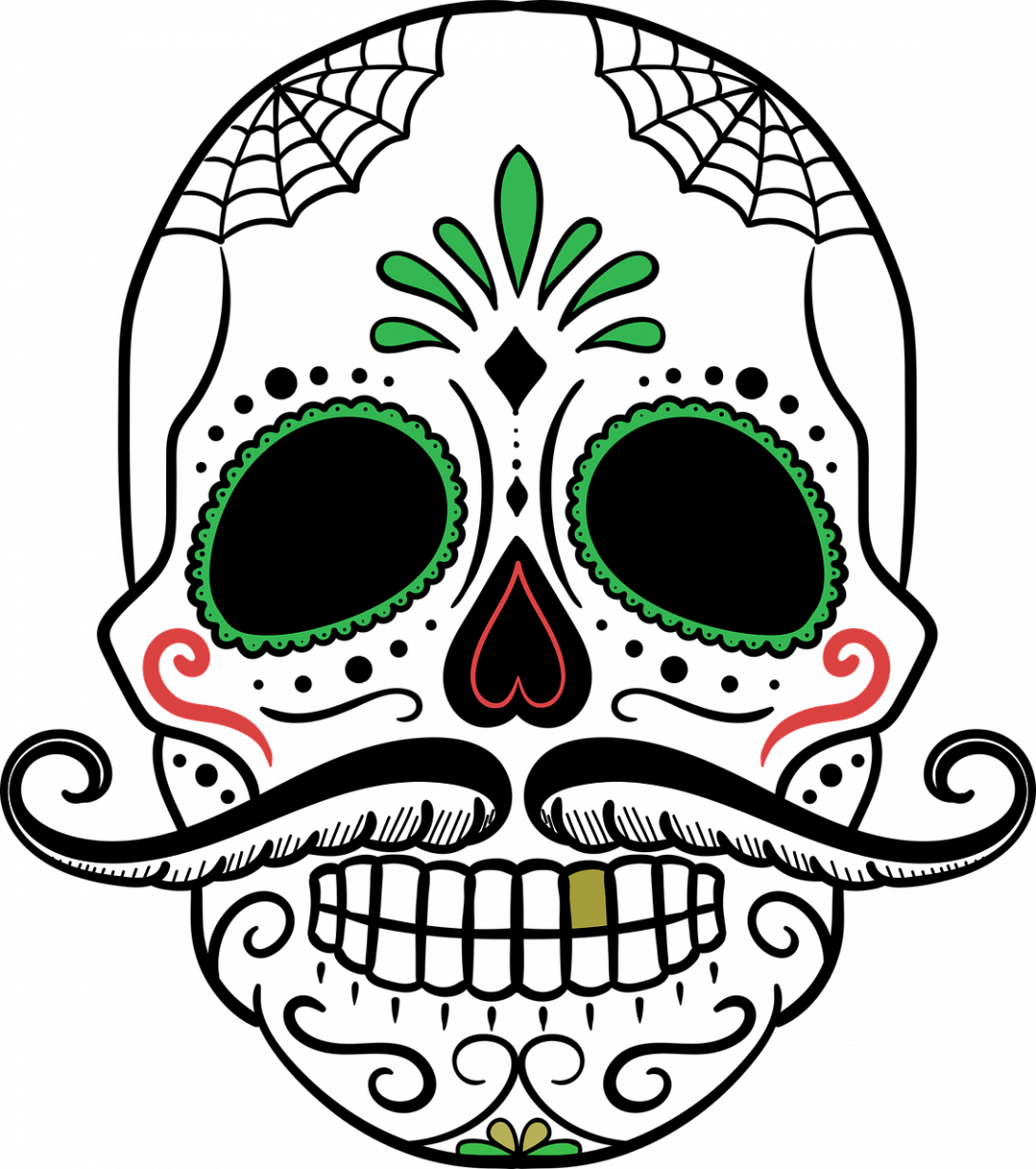 1092x1232 Dia De Los Muertos Skull Template Tattoo Designs Drawing Easy Art