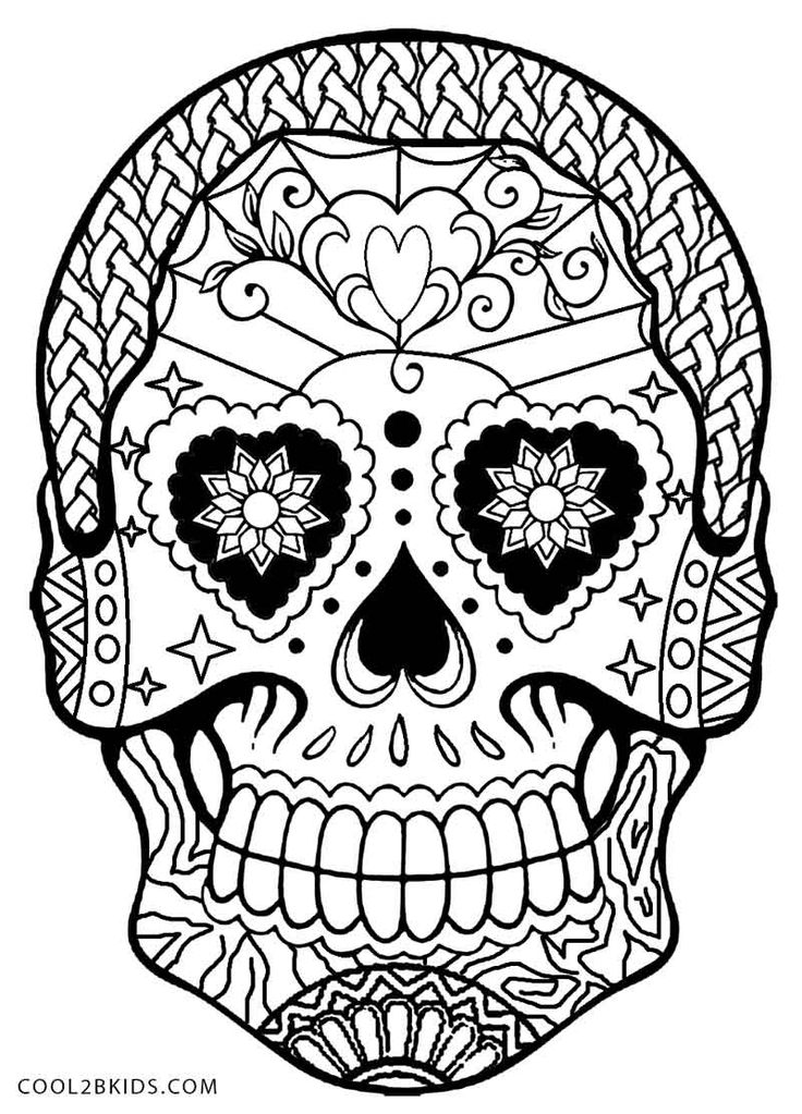 Sugar Skull Drawing Step By Step