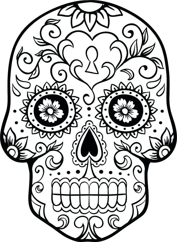 570x779 Mexican Culture Coloring Pages Beautiful Sugar Skull Drawing