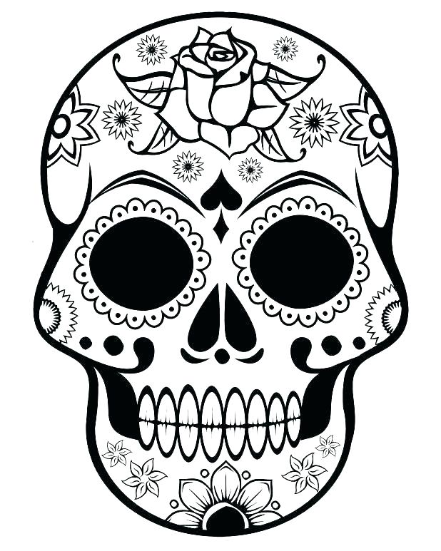 618x773 Monster High Skull Printable Pattern Template Human From Sugar