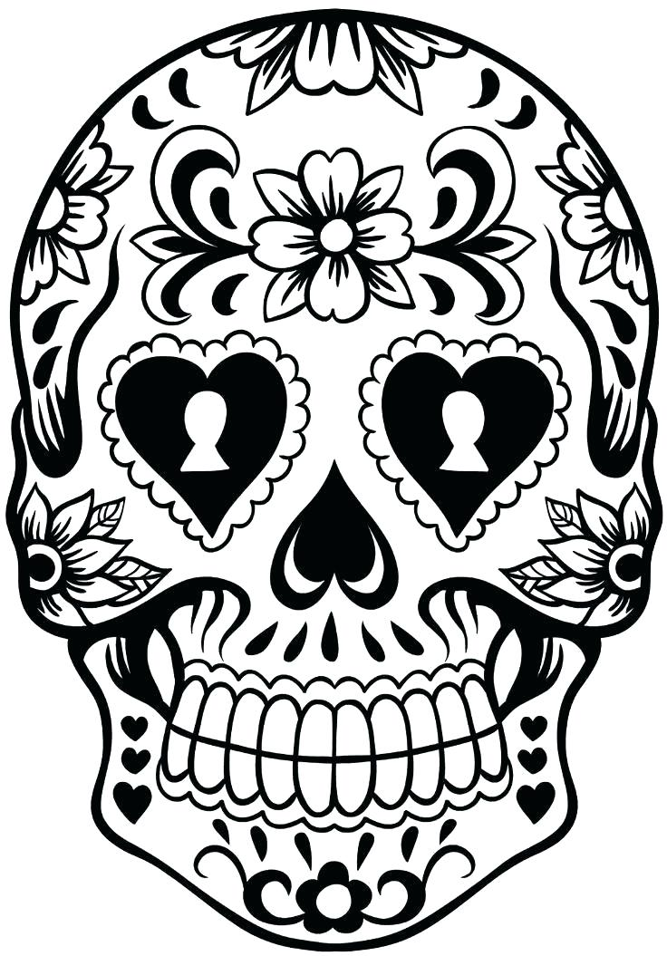 photo regarding Skull Template Printable titled Sugar Skull Drawing Template Cost-free down load great Sugar