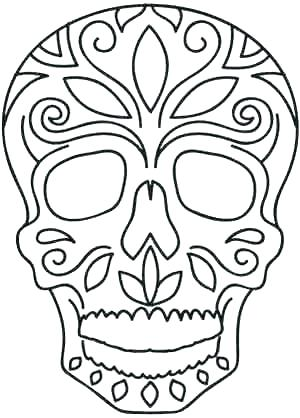 picture regarding Sugar Skull Template Printable referred to as Sugar Skull Drawing Template Cost-free obtain perfect Sugar