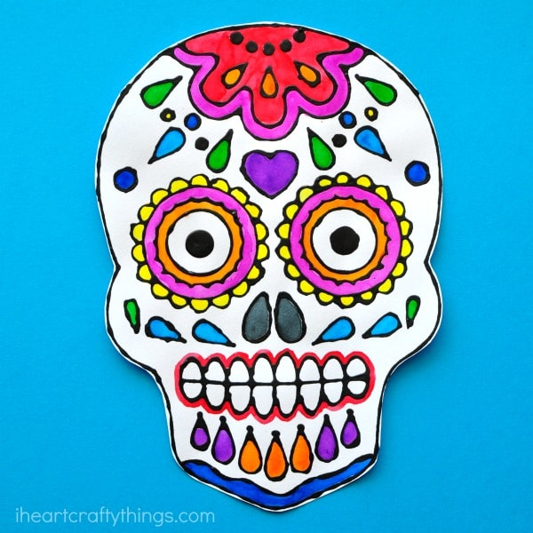 600x600 Sugar Skull Black Glue Art Project
