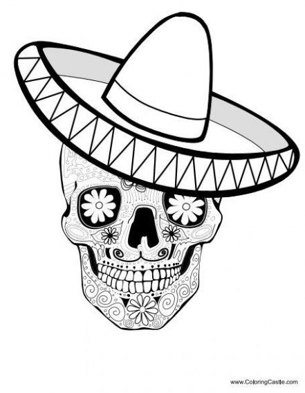 441x568 Sugar Skull Coloring Great Sugar Skulls Coloring Pages Sugar