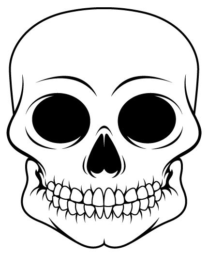 430x526 Sugar Skull Design Template Pseudo Sugar Skull From Start