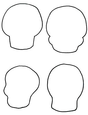 306x400 Sugar Skull Drawing Template At Free For Personal The Make Your