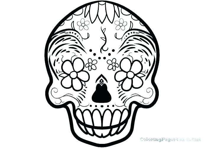 700x500 Sugar Skull Printable Coloring Pages Printable Skull Stencils