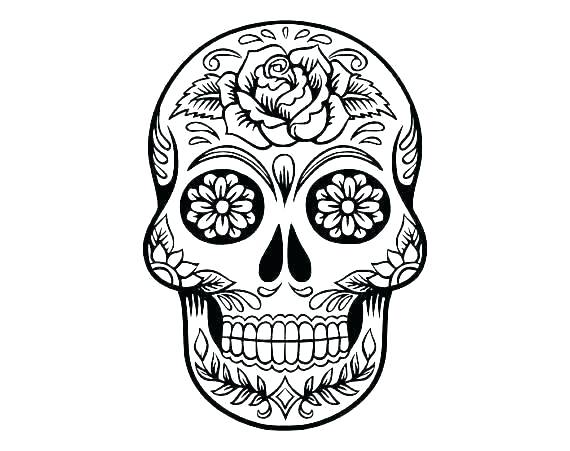 570x451 Sugar Skull Makeup Template