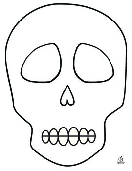 270x350 Day Of The Dead Sugar Skull Template