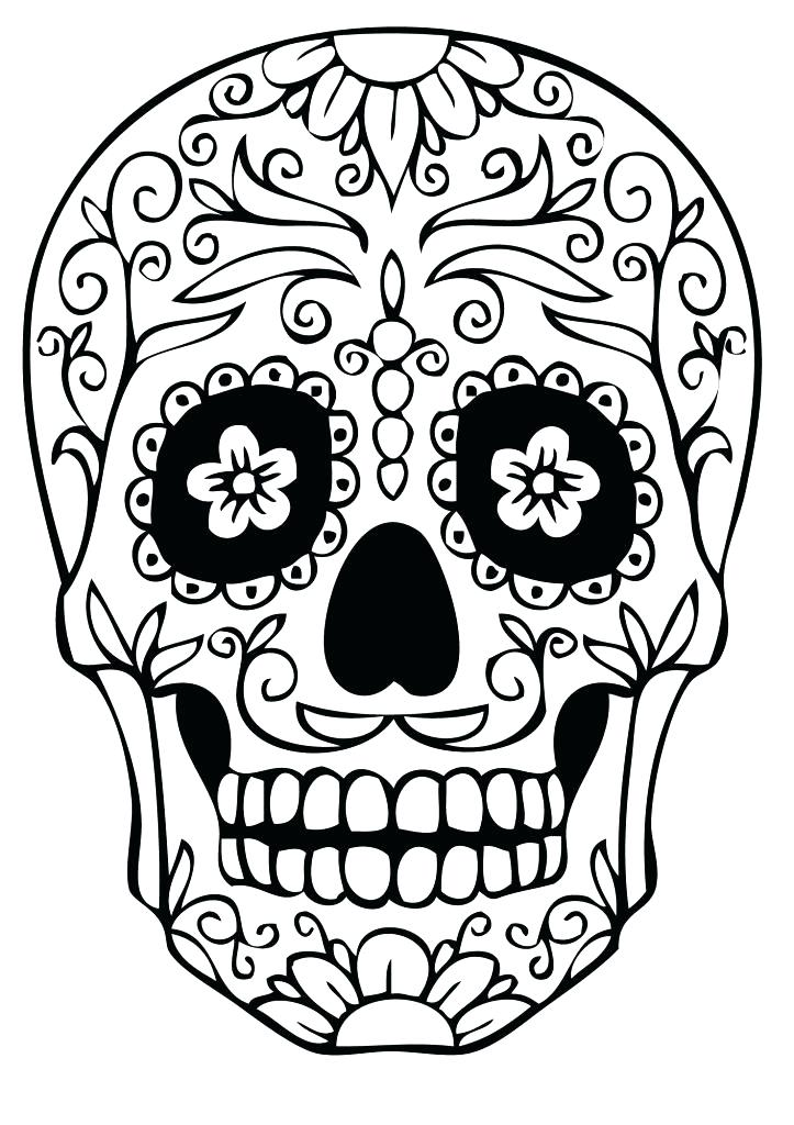 723x1024 Sugar Skull Drawing Girl Step