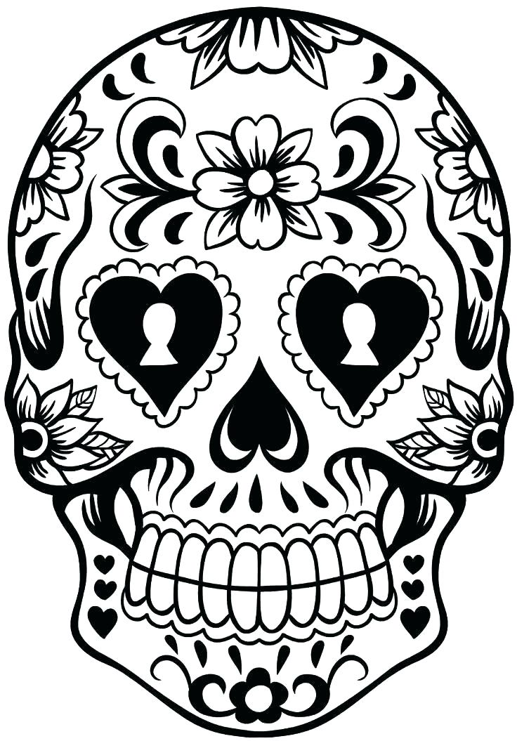 736x1055 Skulls Stencil Template Hat Sugar Skull Craft New X Details