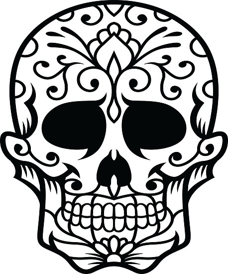 458x550 Sugar Skull Face Portrait Skeleton Day Of The Dead Mexican Dia De