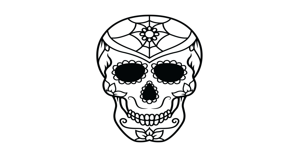 1200x630 Sugar Skull Skeleton Face Portrait Day Of The Dead Dia De Los