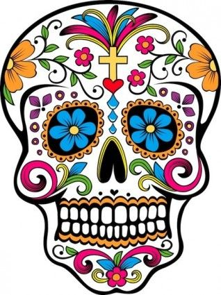 318x425 Sugar Skull Vector Day Of The Dead Sugar Skull Tattoos, Candy