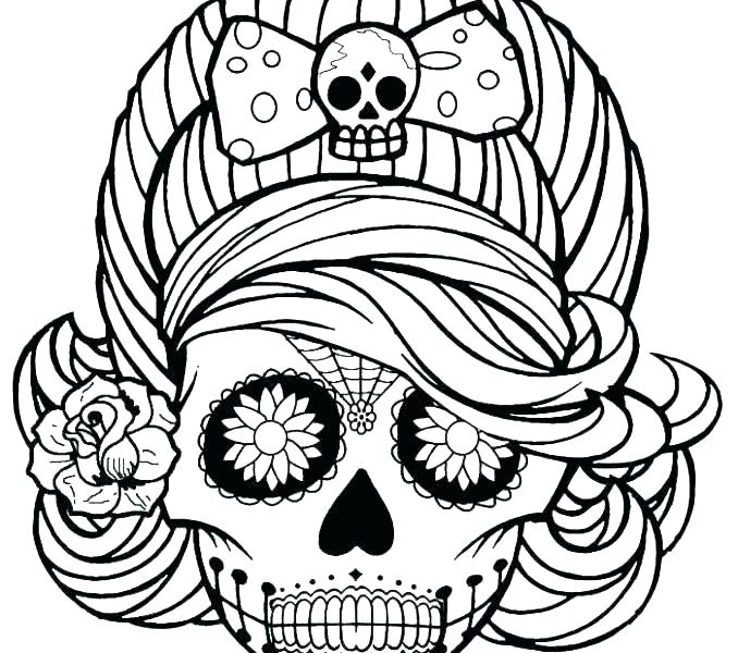 678x600 Sugar Skulls To Color