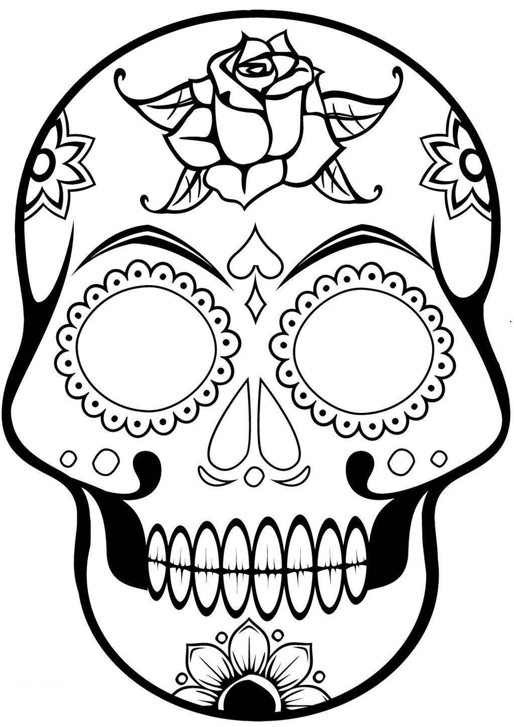 1024x1449 Skulls Coloring Pages Sugar Skull Online Freeable Lol Surprise