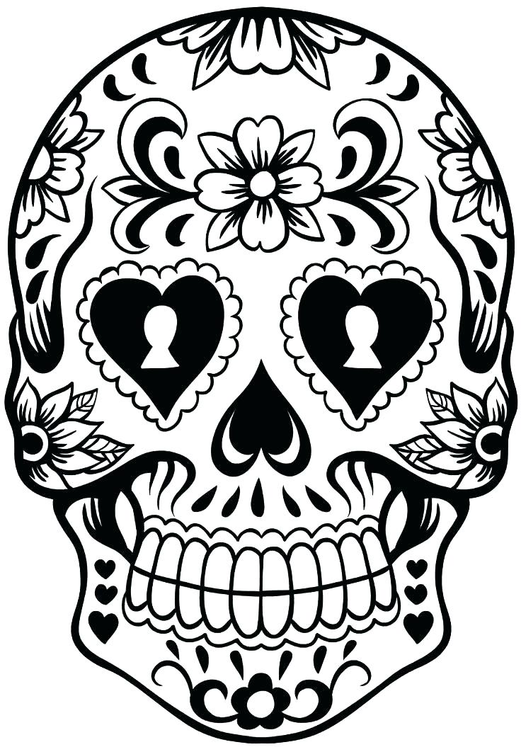 736x1055 Sugar Skull Art Print