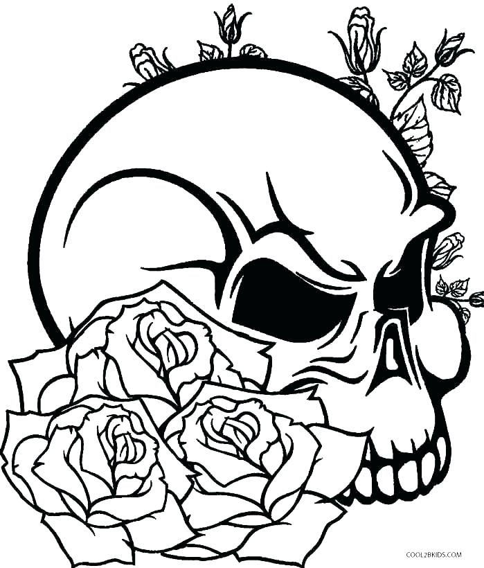 699x820 Coloring Pages Of Skulls With Flames