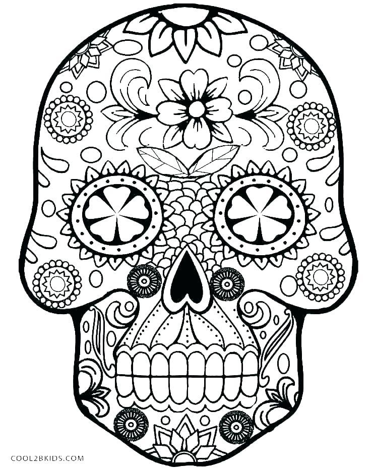 736x930 Sugar Skull Outline