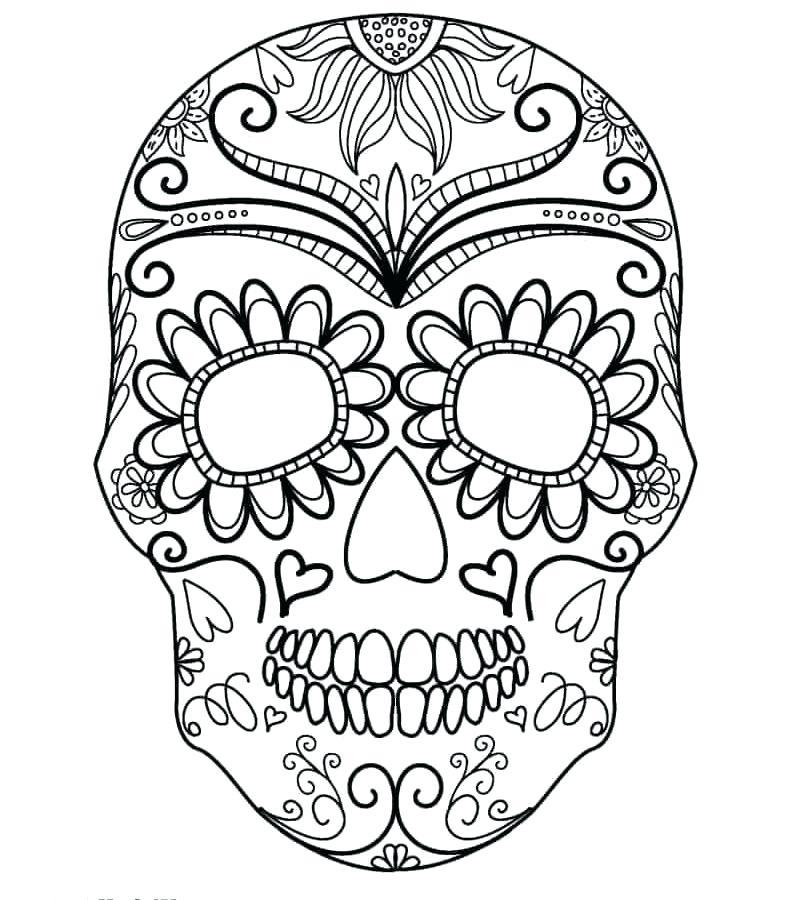 791x900 Sugar Skull Printable