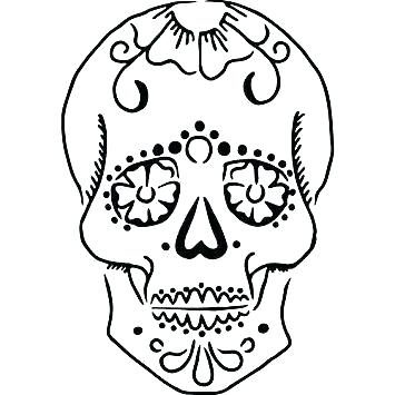 355x355 Blank Sugar Skull Template Mini Day Of The Templates C Pictures