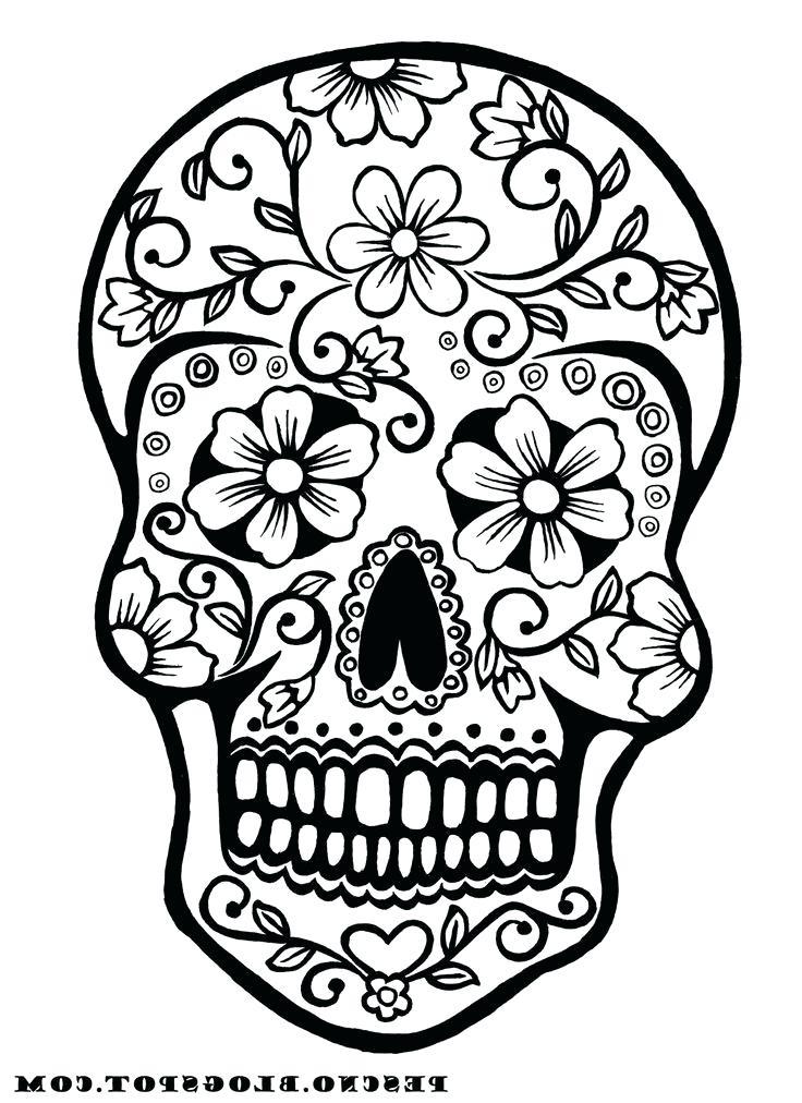 photograph regarding Printable Sugar Skull identified as Sugar Skull Line Drawing No cost down load least difficult Sugar Skull