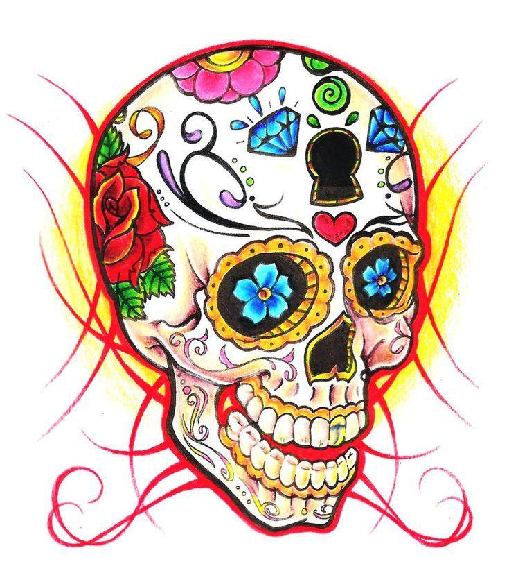 735x826 Best Flas Art Sugar Skull Tattoos Ideas And Designs
