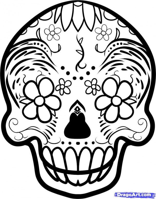 640x815 How To Draw A Sugar Skull Tattoo Sugar Skull Tattoo Step