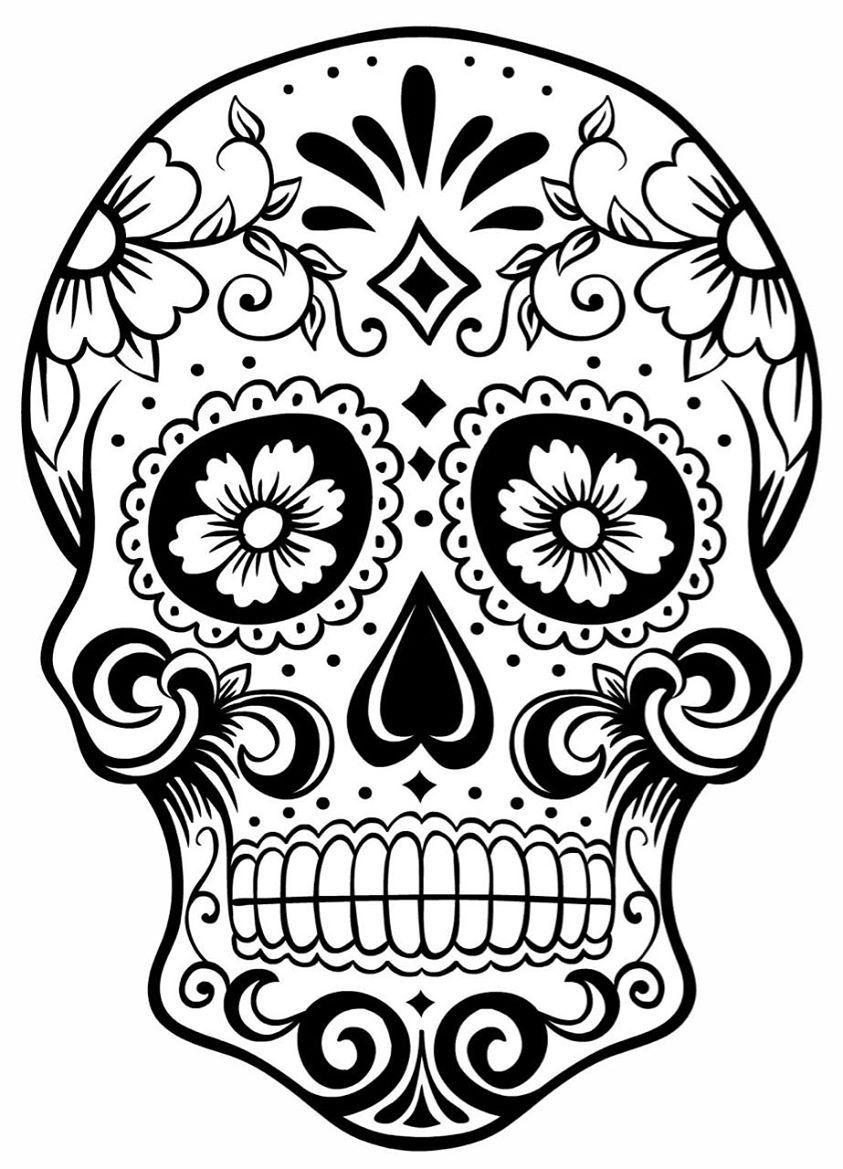 843x1169 Skulls Skull Coloring Pages, Sugar