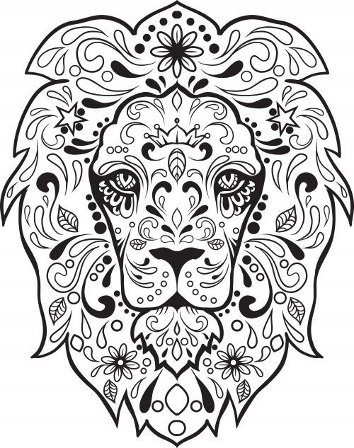 500x633 Lion Sugar Skull Tattoos Ideas And Designs