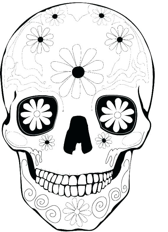 569x782 Skull Coloring Pages For Adults Sugar Skulls Thewestudio