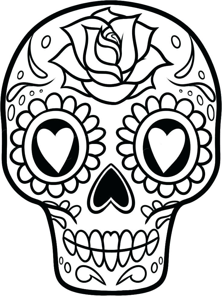 736x981 Sugar Skull Coloring