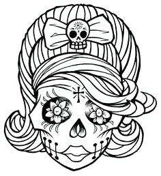 236x258 Best Free Sugar Skull Coloring Pages Images