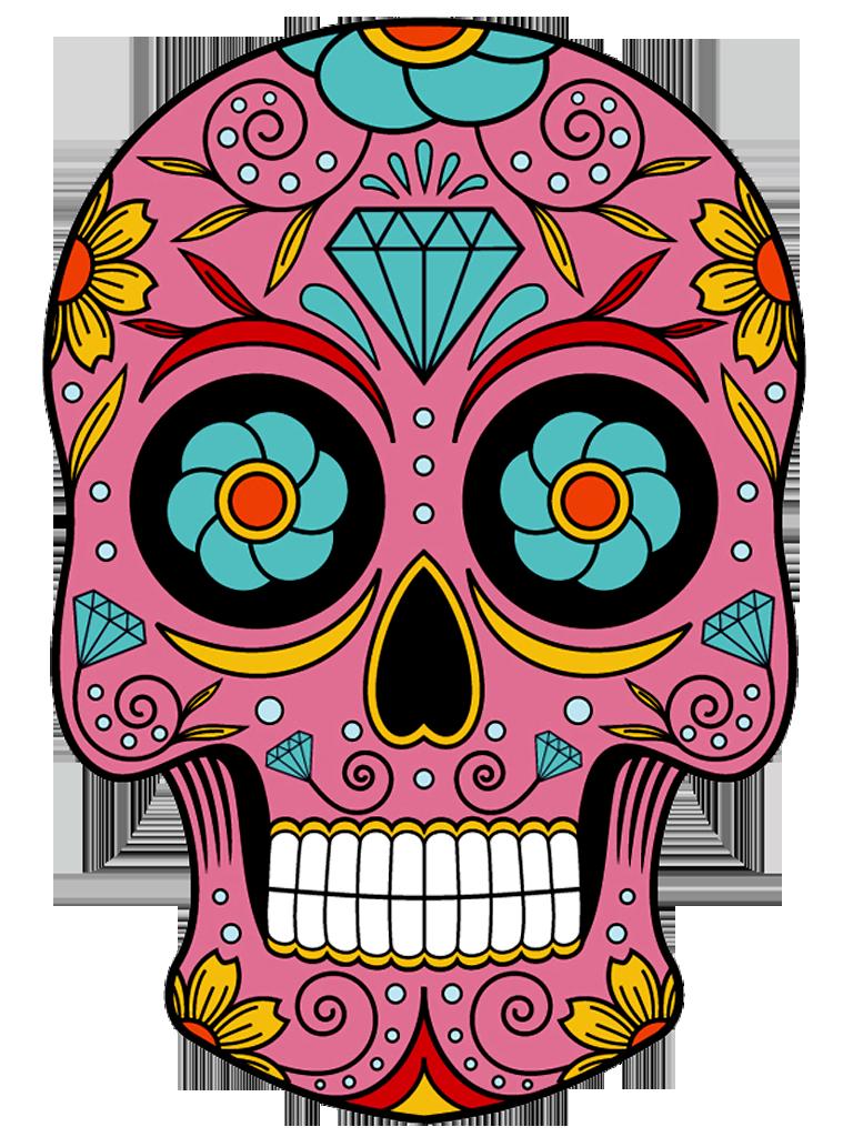 768x1024 Charra Drawing Sugar Skull Girl Tattoo Transparent Png Clipart