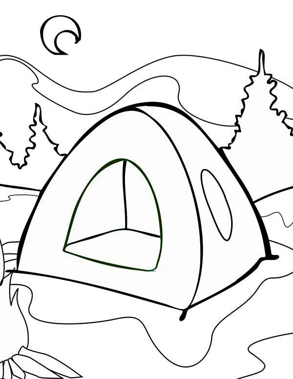 600x776 summer c summer tent on summer camp coloring
