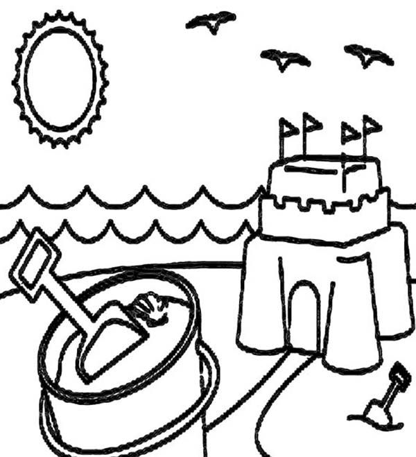 600x659 beach vacation, a happy summer beach vacation coloring