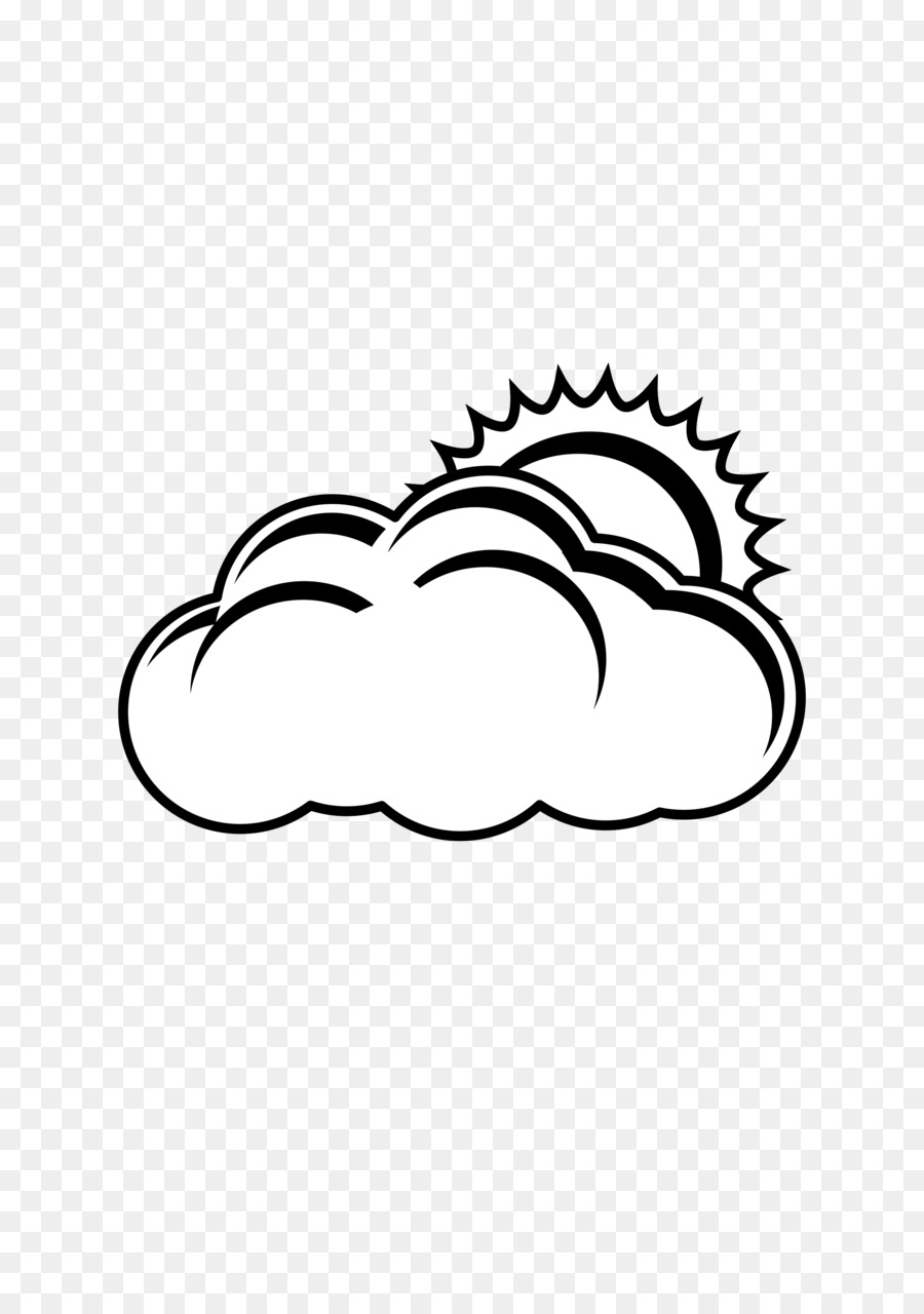 Sun And Clouds Drawing