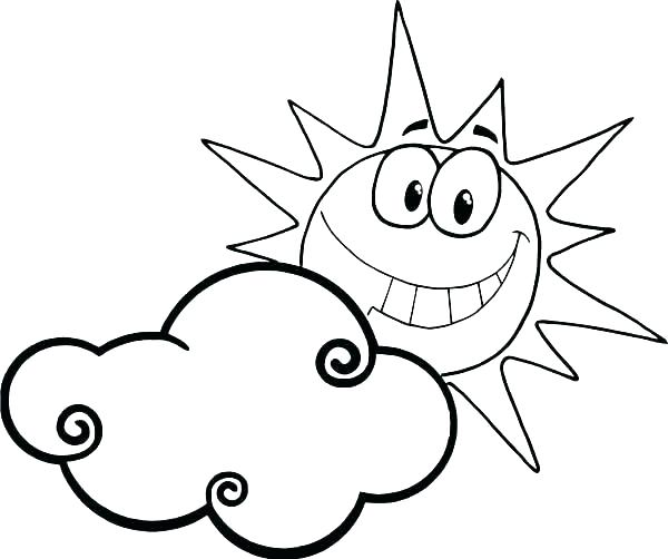 600x502 coloring pages of clouds color pages clouds coloring pages of sun