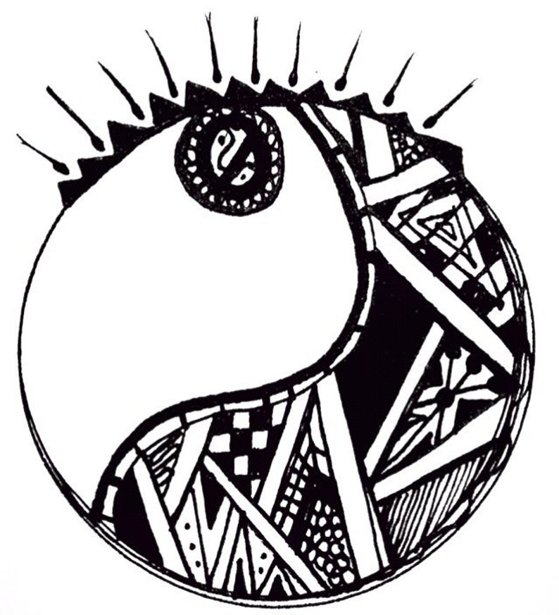 Sun And Moon Drawing Black And White
