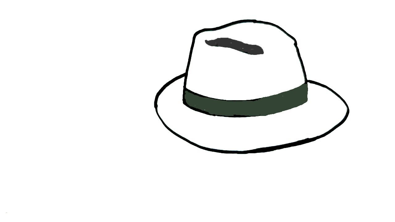 1280x720 How To Draw A Hat In Easy Steps For Children Beginners