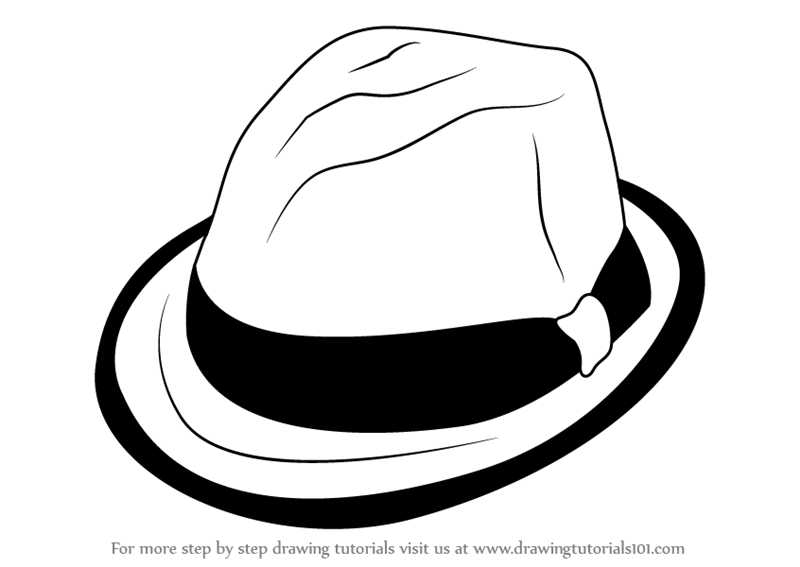 800x567 Learn How To Draw A Hat With Ribbon