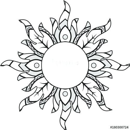 498x500 mandala sun mandala sun mandala sunflower shoulder tattoo
